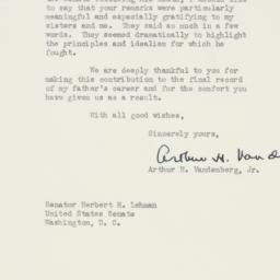 Letter : 1951 August 20