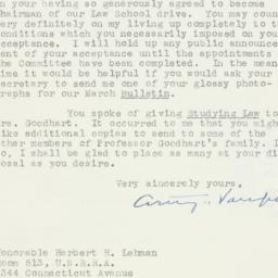 Letter : 1946 February 20