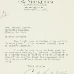 Letter : 1934 February 21