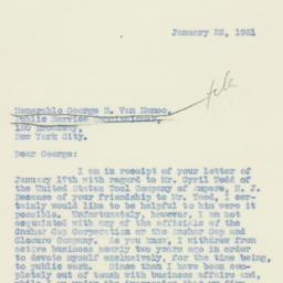 Letter : 1931 January 22