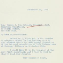 Letter : 1933 September 28