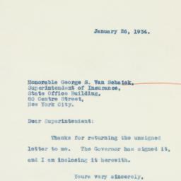Letter : 1934 January 26