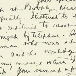 Letter : 1934 November 7