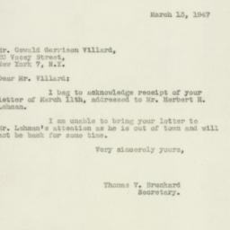 Letter : 1947 March 13