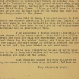 Letter : 1919 June 18