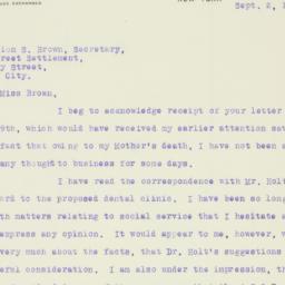 Letter : 1919 September 2