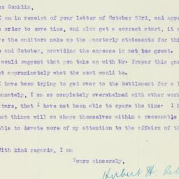 Letter : 1920 October 28