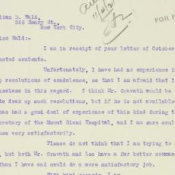 Letter : 1921 November 3