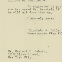 Letter : 1921 November 4