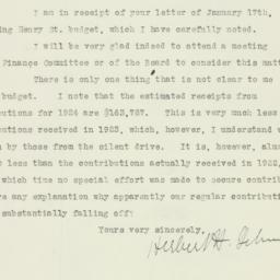 Letter : 1924 January 23