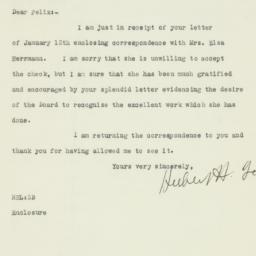 Letter : 1925 January 13