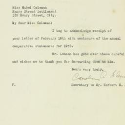 Letter : 1926 February 24