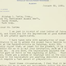 Letter : 1929 January 29