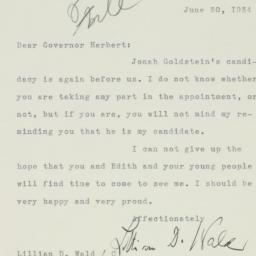 Letter : 1934 June 30