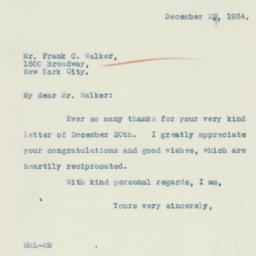 Letter : 1934 December 22
