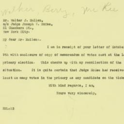 Letter: 1925 October 10