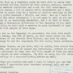 Letter : 1940 March 8