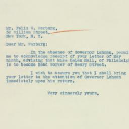 Letter : 1933 May 16