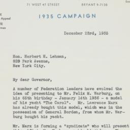 Letter : 1935 December 23
