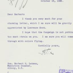 Letter : 1936 October 15