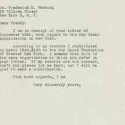 Letter : 1948 September 21