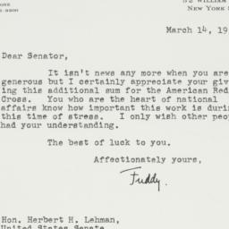 Letter : 1951 March 14