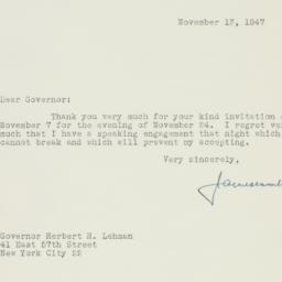 Letter : 1947 November 13