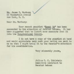 Letter : 1951 January 22