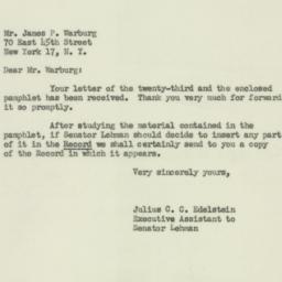 Letter : 1951 January 27