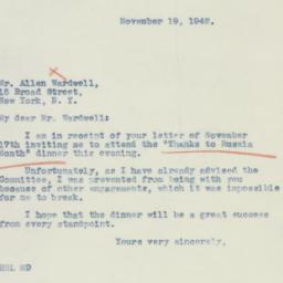 Letter : 1942 November 19