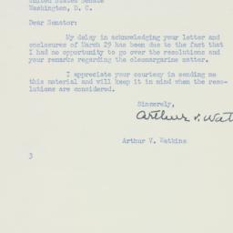 Letter : 1950 April 21