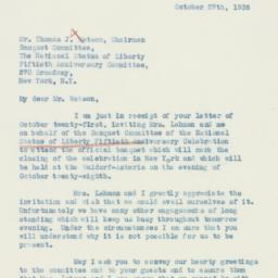 Letter : 1936 October 27