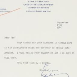 Letter : 1940 September 13
