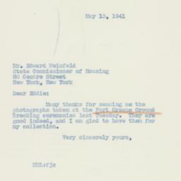 Letter : 1941 May 13