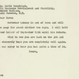 Letter : 1947 September 15