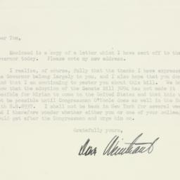 Letter : 1950 August 21