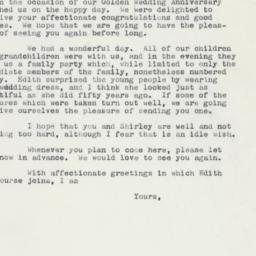 Letter : 1960 May 1