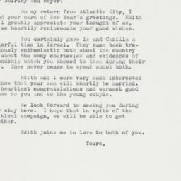 Letter : 1962 October 4