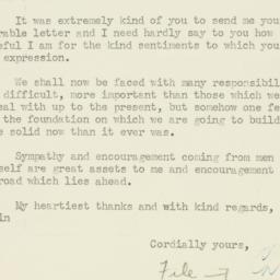Letter : 1947 December 2