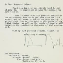 Letter : 1944 August 9