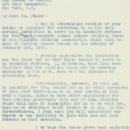 Letter : 1933 December 9