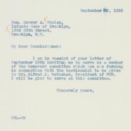 Letter: 1935 September 30