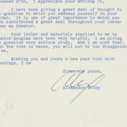 Letter : 1956 December 31
