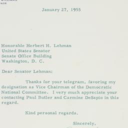 Letter : 1955 January 27