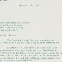Letter : 1955 February 21