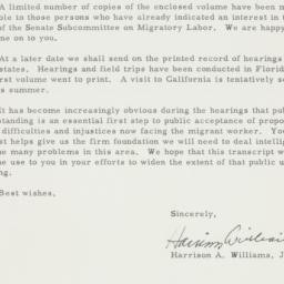 Letter : 1960 June 8