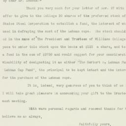 Letter : 1925 November 30