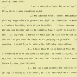 Letter : 1926 April 22