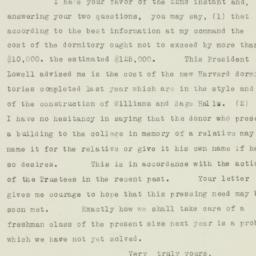 Letter: 1926 April 23
