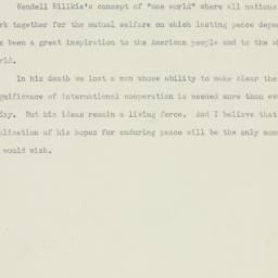 Ephemera : 1945 February 16